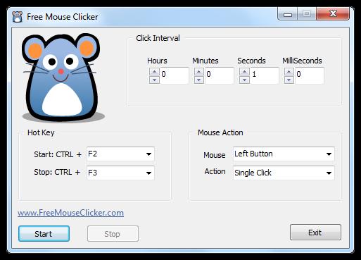 Free Mouse Clicker - Screenshot